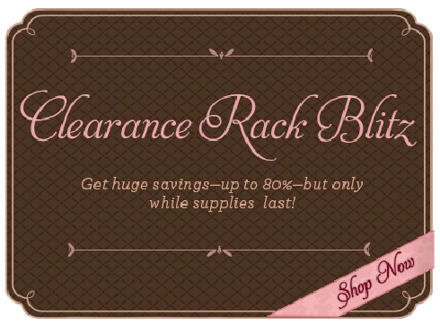 2012 Clearance Rack blitz