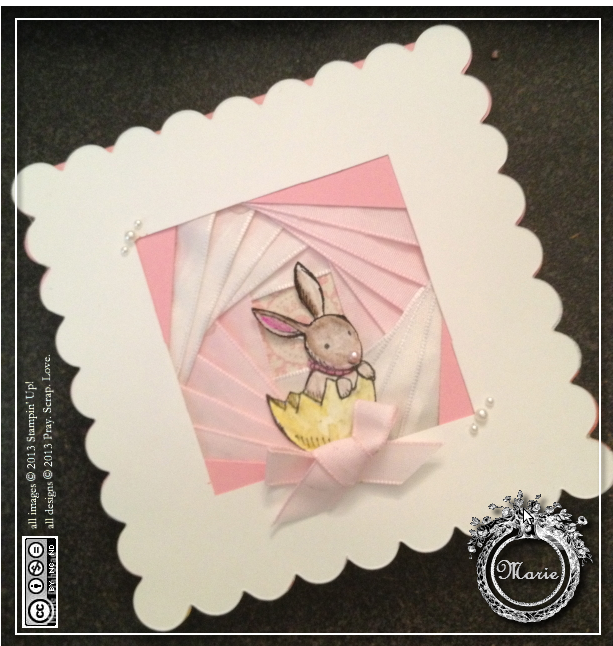 iris paper folding card