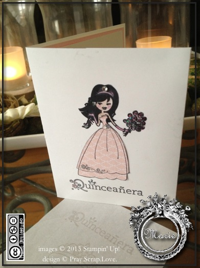 su quinceanera card pink front