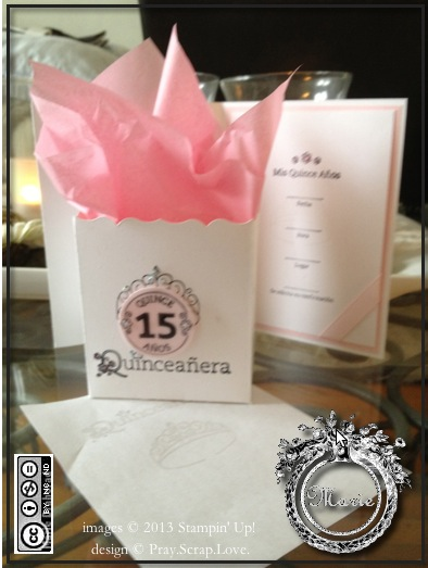 su quinceanera pink party favor